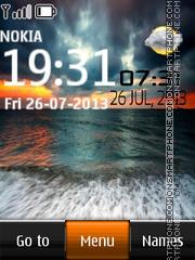 Sunset Live Clock tema screenshot