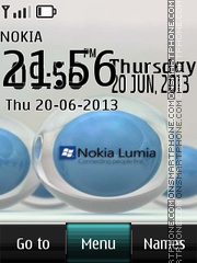 Nokia Lumia Digital theme screenshot