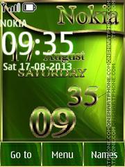 Green Nokia theme screenshot