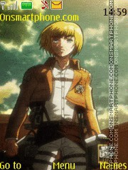 Armin Arlert theme screenshot