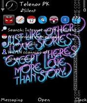 Скриншот темы Love words