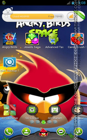 Angry Birds Space 01 theme screenshot