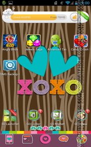 Color Me XOXO tema screenshot