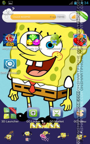 Скриншот темы SpongeBob SquarePants for Android
