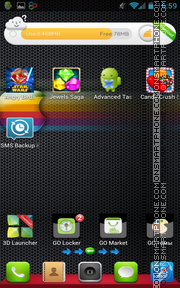 iPhone Black 03 tema screenshot