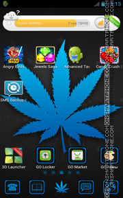Blue Weed tema screenshot