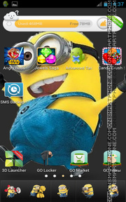 Crazy Minion theme screenshot