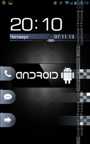 Black Android theme screenshot