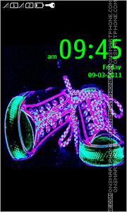 Stylish Neon Sneakers theme screenshot