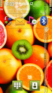 Amazing Fruits theme screenshot
