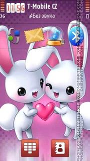 Bunny Love theme screenshot