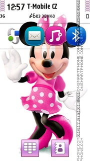 Minnie Mouse In Dress es el tema de pantalla