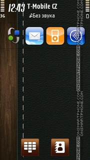Leather Wood Surface theme screenshot