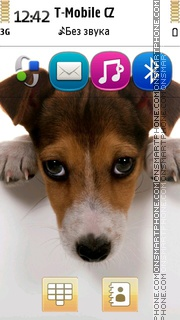 Dog Jack Russell Terrier theme screenshot
