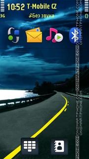 Night Highway theme screenshot