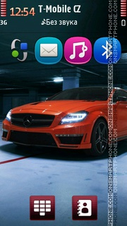 Mercedes-Benz CLS63 AMG theme screenshot