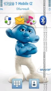 Grouchy The Smurfs 2 theme screenshot