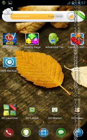 HD Leaves 01 theme screenshot