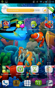 Aquarium 12 tema screenshot