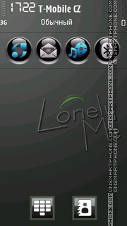 LonelyBlack tema screenshot