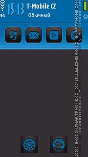Blue Neon S60v5 01 tema screenshot
