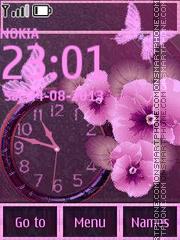 Fucsia Flowers theme screenshot