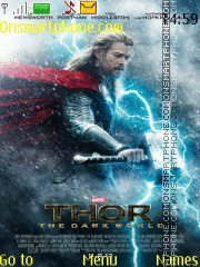Thor The Dark World theme screenshot