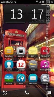 Red Phone Box theme screenshot