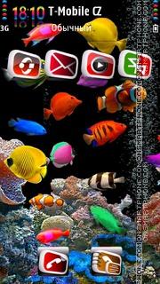 Aquarium HD v2 es el tema de pantalla