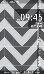 Black Pattern theme screenshot