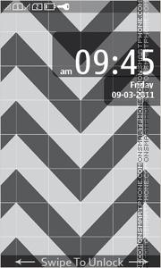 Скриншот темы Black Pattern