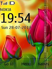 Summer Flower Day es el tema de pantalla