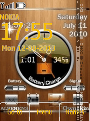Analog time date clock tema screenshot