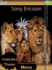 Capture d'écran Lion Queen thème
