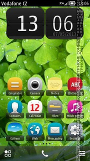 Clover And Dew theme screenshot