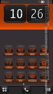 Orange Neon es el tema de pantalla