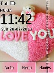 I Love You 15 theme screenshot