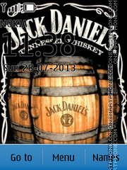 Jack Daniels Whiskey theme screenshot