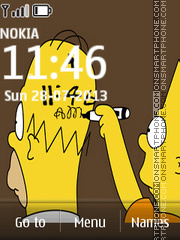 Simpsons Clock 02 theme screenshot
