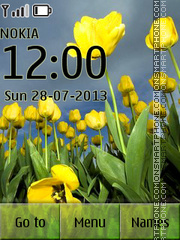Yellow Tulips 03 theme screenshot