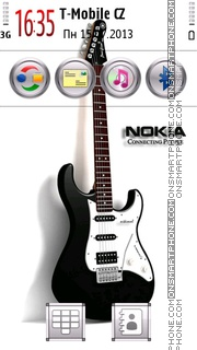 Rock Guitar tema screenshot