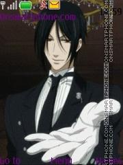 Kuroshitsuji Sebastian theme screenshot