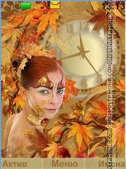 The lady autumn es el tema de pantalla