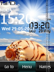 Shell Digital Clock theme screenshot