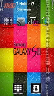 Colour Galaxy S3 theme screenshot