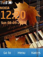 Autumn melody theme screenshot