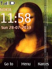 Mona Lisa - Leonardo da Vinci theme screenshot