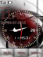 Swf_Nike_Clock theme screenshot