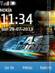 Fast And Furious 07 tema screenshot