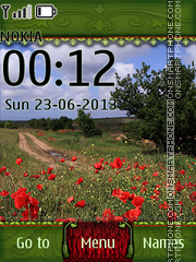 Summer Field with Poppies tema screenshot